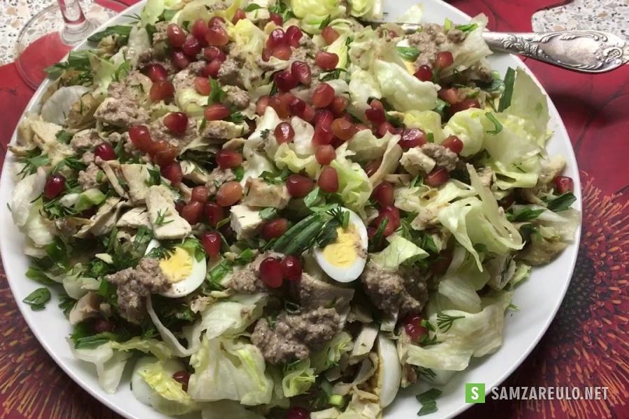 უგემრიელესიქათმის ხორცის სალათა იმერულად