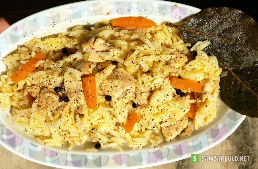 როგორ მოვამზადოთ ბრინჯის ფლავი ქათმის ხორცით.