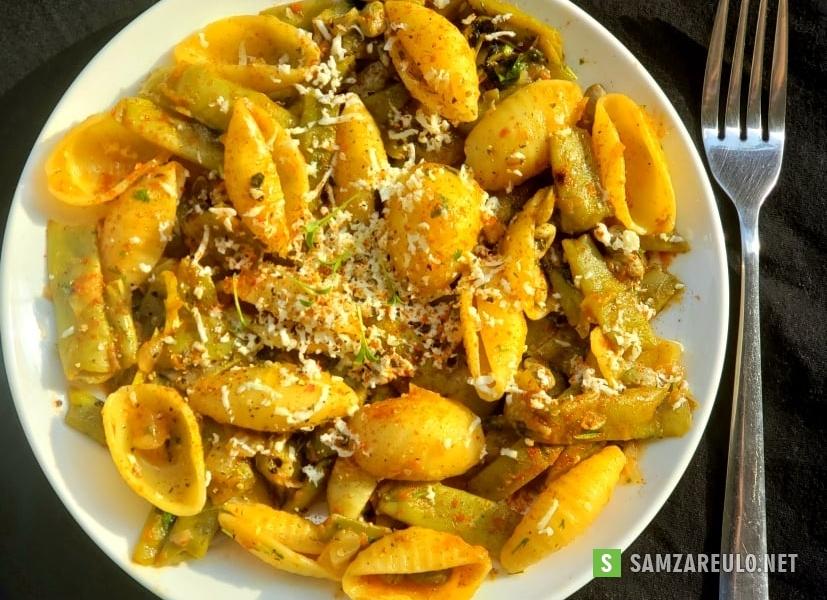 როგორ მოვამზადოთმწვანე ლობიო მაკარონით.